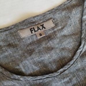 87edd9bdaad Flax Tops | Gray Linen Long Sleeve Slouch Tunic Oversized | Poshmark